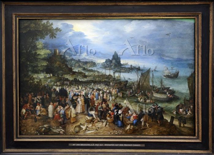 ヤン・ブリューゲル 1世 「キリストの説教のある海岸風景」