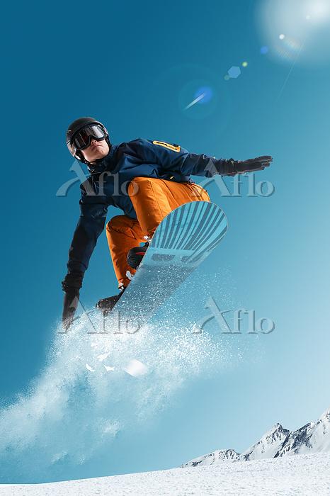 Ski young man