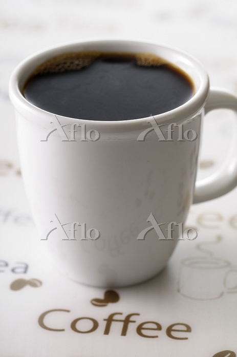 Close-up of Cup of Black Coffe・・・