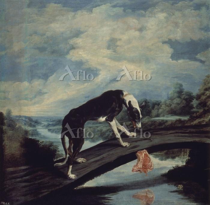 パウル・デ・フォス「犬と肉の寓話」