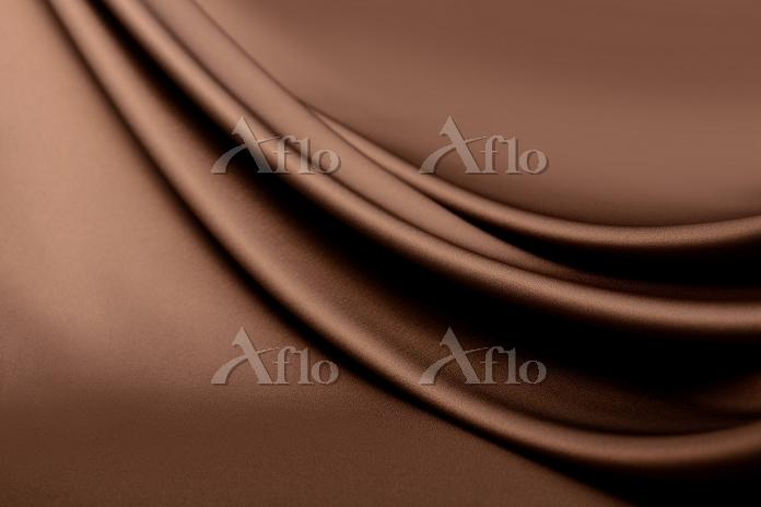 茶色のドレープ 布