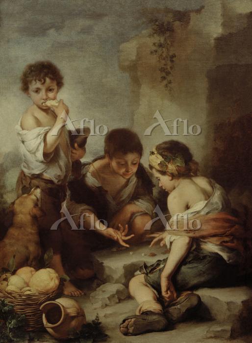 ムリーリョ 「サイコロ遊びをする少年たち」