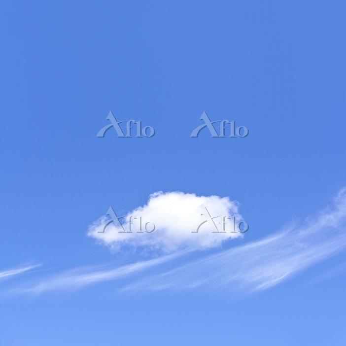 青空とすじ雲と綿雲