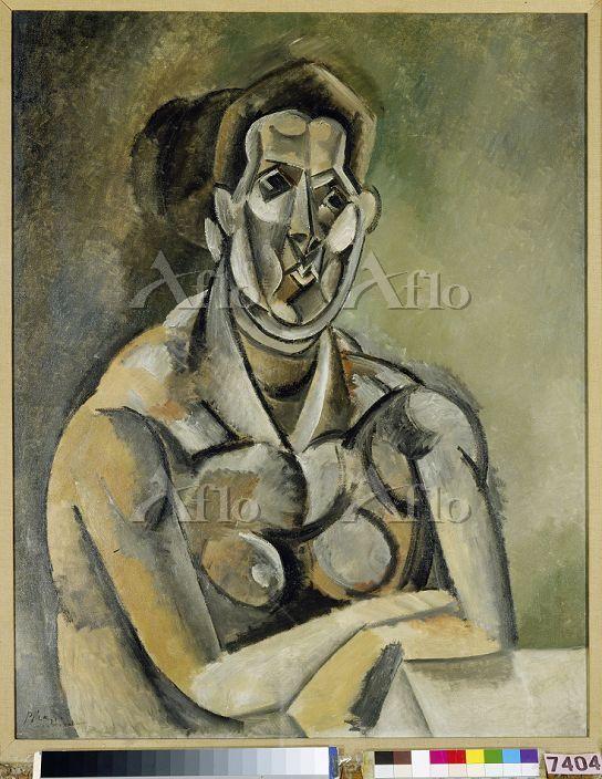 パブロ・ピカソ 「女の半身像(フェルナンド)」
