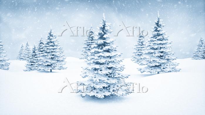 Christmas winter landscape bac・・・