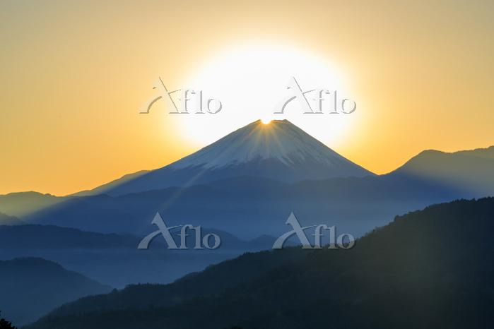 山梨県 ダイヤモンド富士
