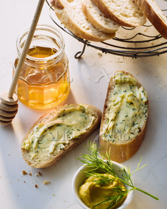 Slices of Baguette with compou・・・