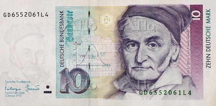 ドイツ・マルク紙幣(10マルク)