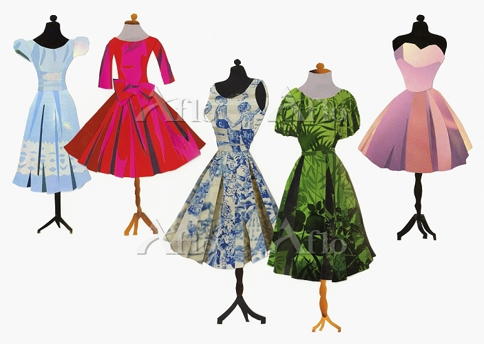 Variety of dresses on dressmak・・・