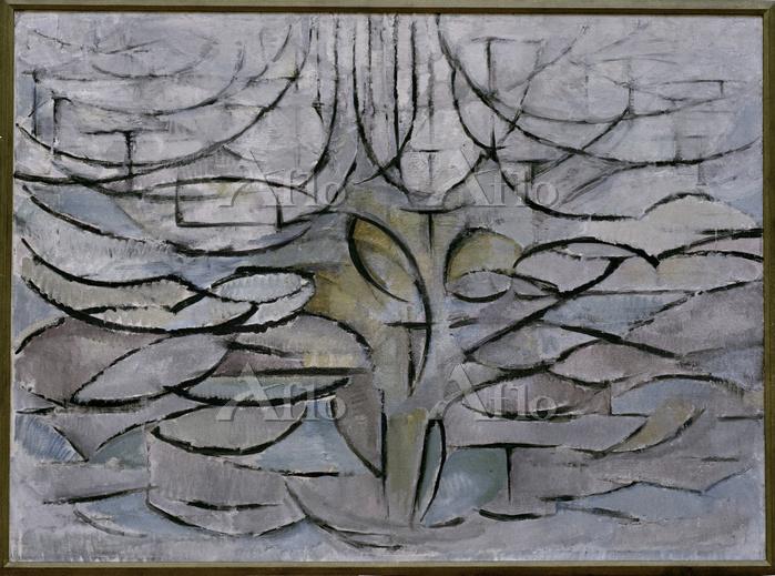 ピエト・モンドリアン 「花咲くリンゴの木」
