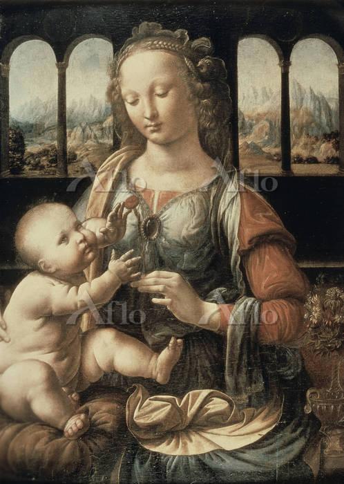 レオナルド・ダ・ヴィンチ 「カーネーションの聖母」