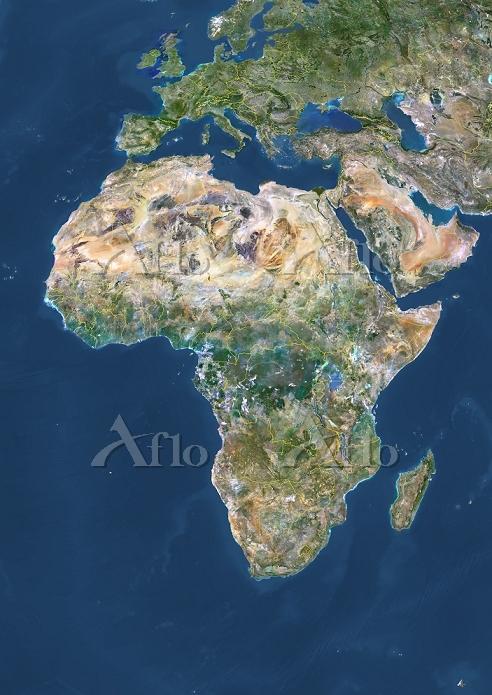 アフリカ大陸 衛星写真