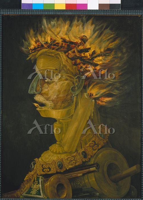 アルチンボルド 「四大元素(火)」