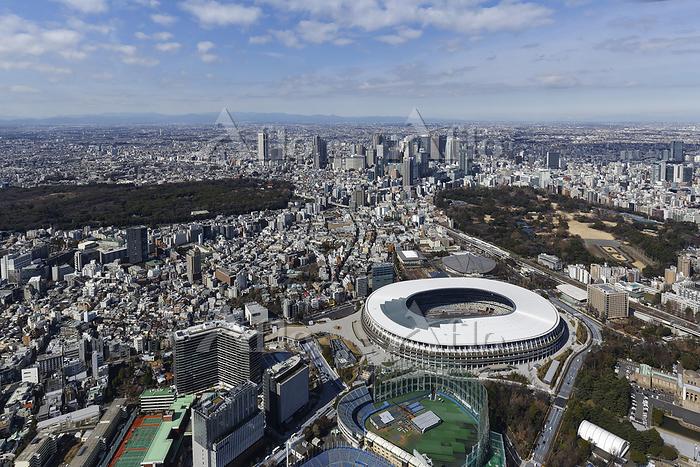 東京都 オリンピックスタジアム 空撮