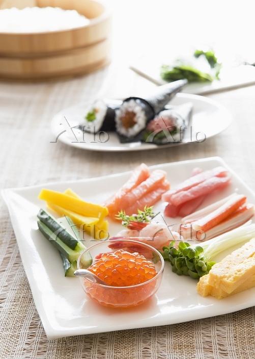 手巻き寿司の具材