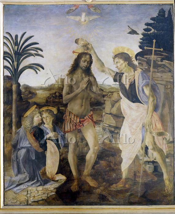 ヴェロッキオ 「キリストの洗礼」