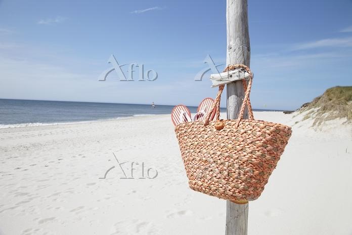 浜辺のバスケット