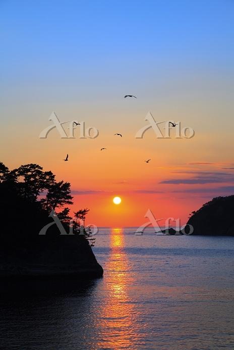 静岡県 夕暮れの堂ヶ島