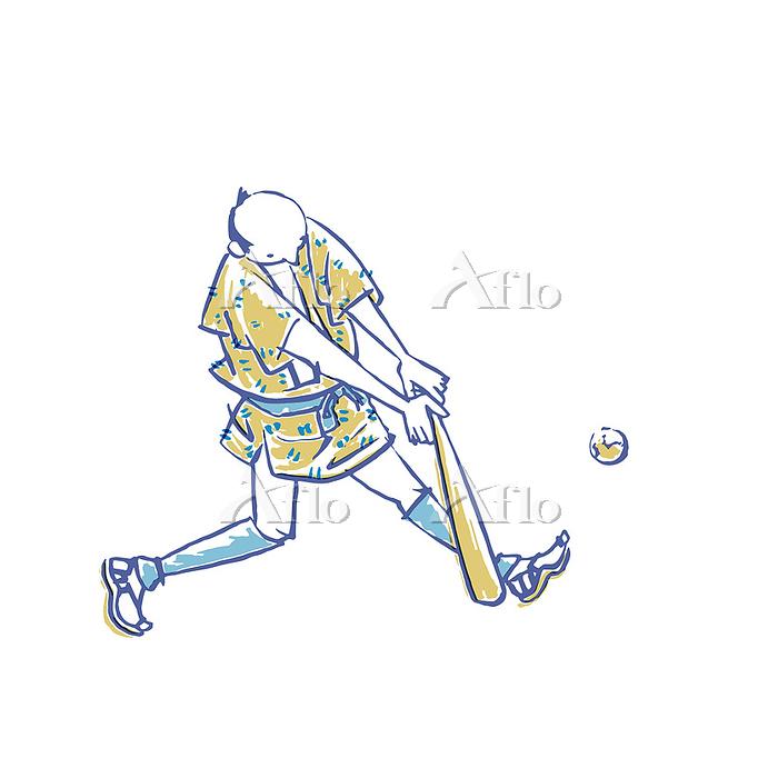 浮世絵風 野球1