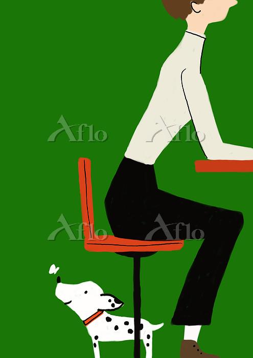 椅子の下で待ってたら
