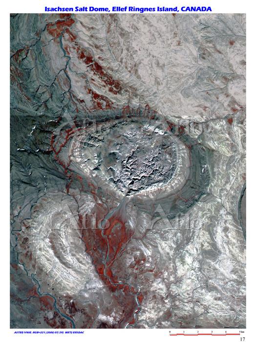 アイザックセン岩塩ドーム カナダ ヌナブト準州 エルフリング・・・