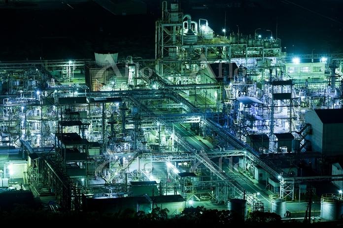 岡山県 工場 夜景