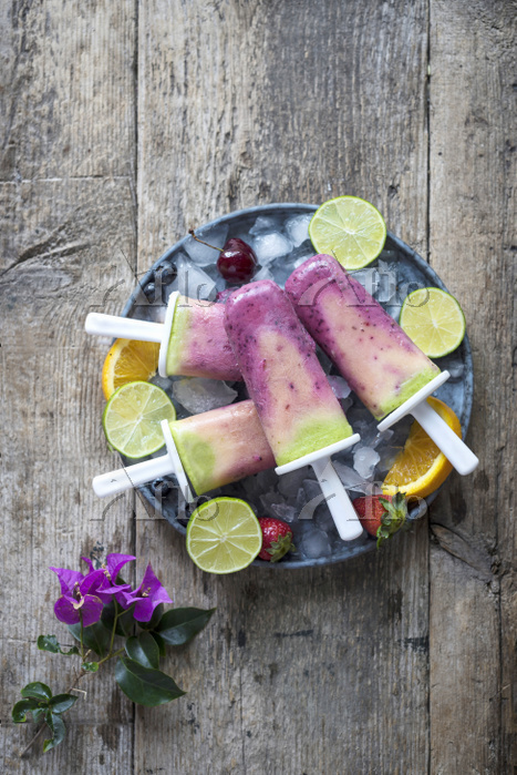 Fruit Smoothie Popsicles
