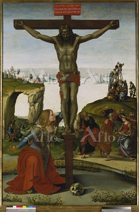 ルカ・シニョレッリ 「キリストの磔刑とマグダラのマリア」