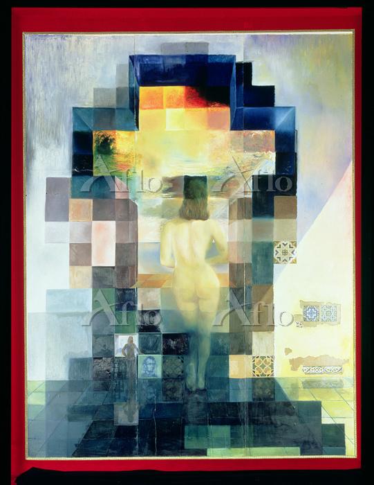 サルバドール・ダリ 「リンカーンの肖像に変容する地中海を見つ・・・