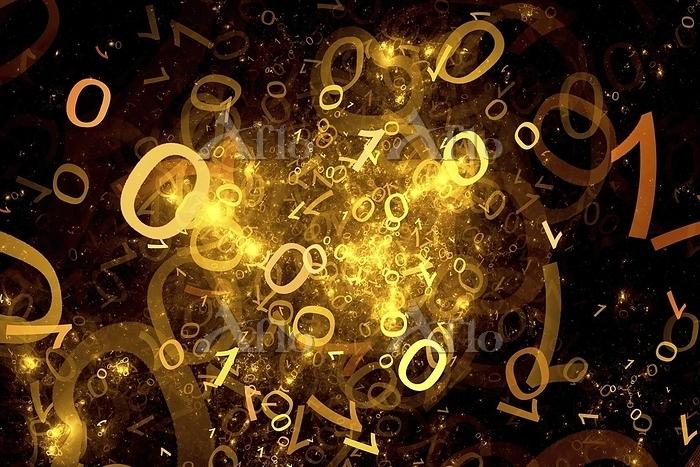 Abstract digit, fractal illust・・・