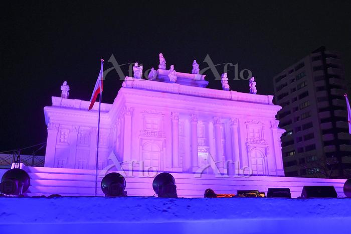 2020札幌雪まつり 雪像ライトアップ