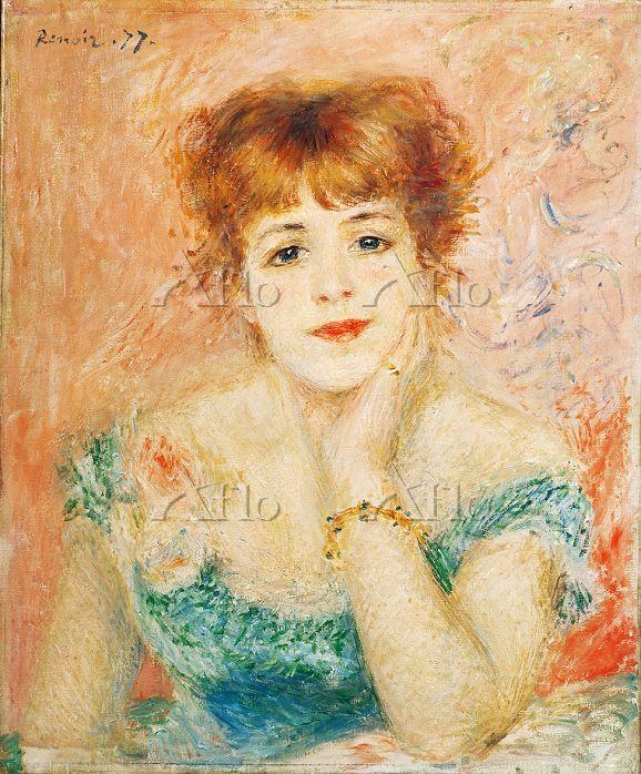 ルノワール  「ジャンヌ・サマリーの肖像」
