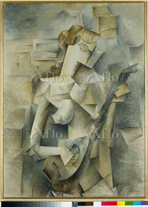パブロ・ピカソ「マンドリンを弾く女」