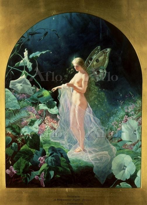 ジョン・シモンズ 「ティターニア『真夏の夜の夢』より」