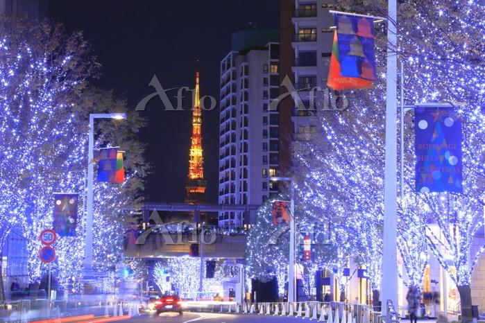 東京都 けやき坂のイルミネーション