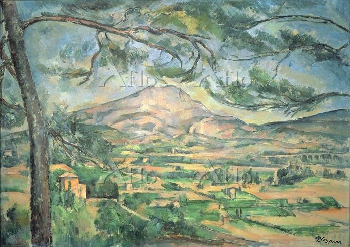 セザンヌ 「大きな松のあるサント=ヴィクトワール山」