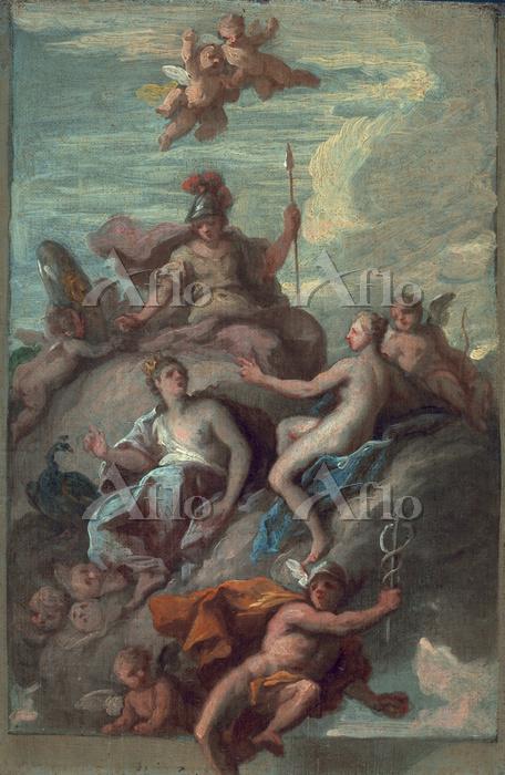 「黄金の林檎とアテネ・アプロディテ・ヘラ」
