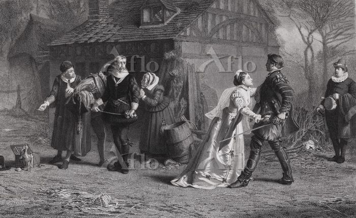 The Interrupted Duel 19th C