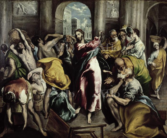 エル・グレコ 「商人を追い払うキリスト」