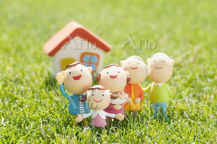 3世代家族と家のクラフト