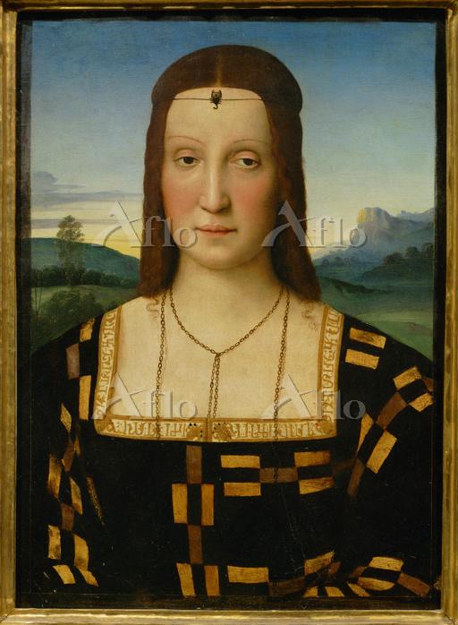 ラファエロ 「エリザベッタ・ゴンザーガの肖像」