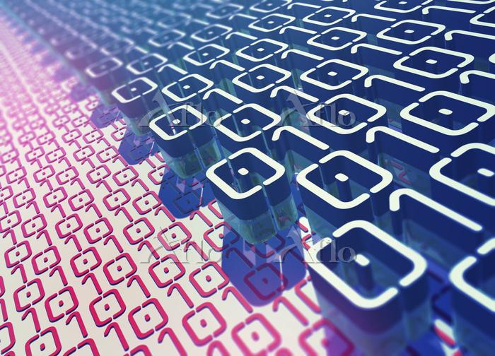 Layers of binary code pattern ・・・