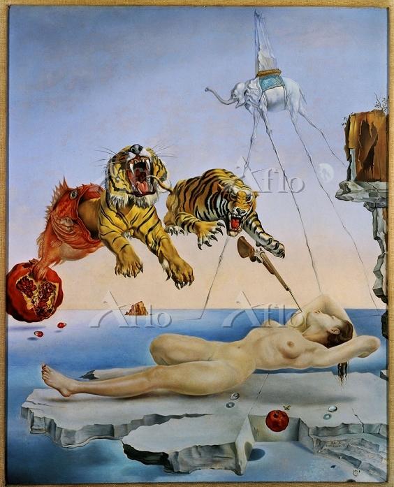 サルバドール・ダリ 「目を覚ます1秒前、ザクロの実の周囲を1・・・