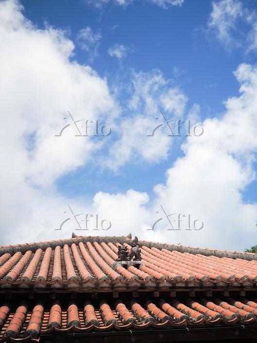 シーサーのある屋根