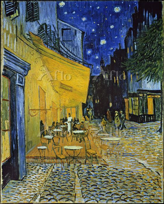 ゴッホ「夜のカフェテラス(フォーラム広場)」