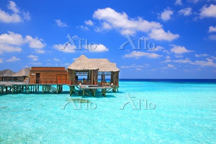 モルディブ 水上レストラン