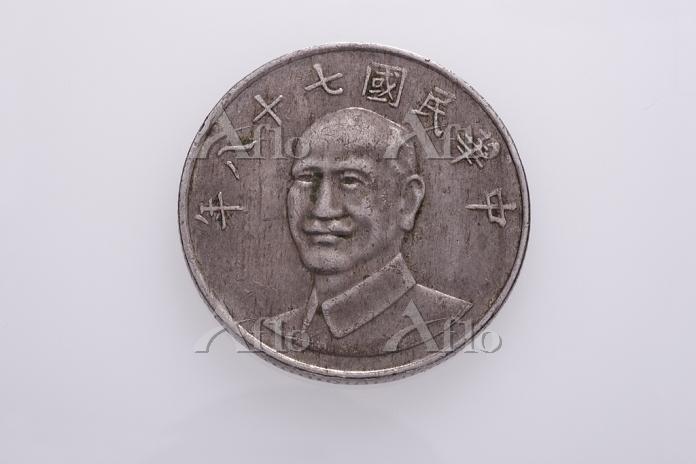 台湾の硬貨 10元 表