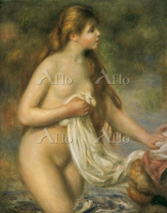 ルノワール 「髪長き水浴の乙女(長い髪の浴女)」