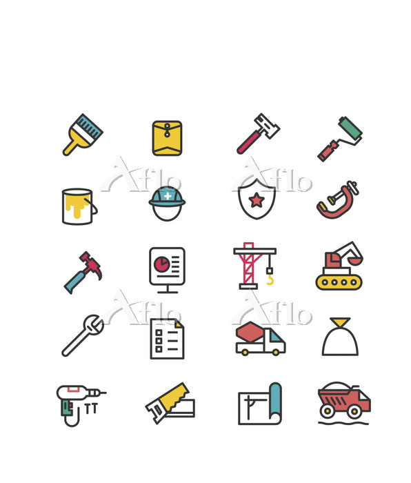 Set of various icons related t・・・