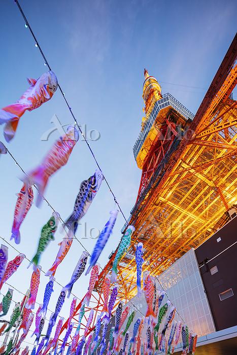 Koi nobori kites, Tokyo Tower,・・・